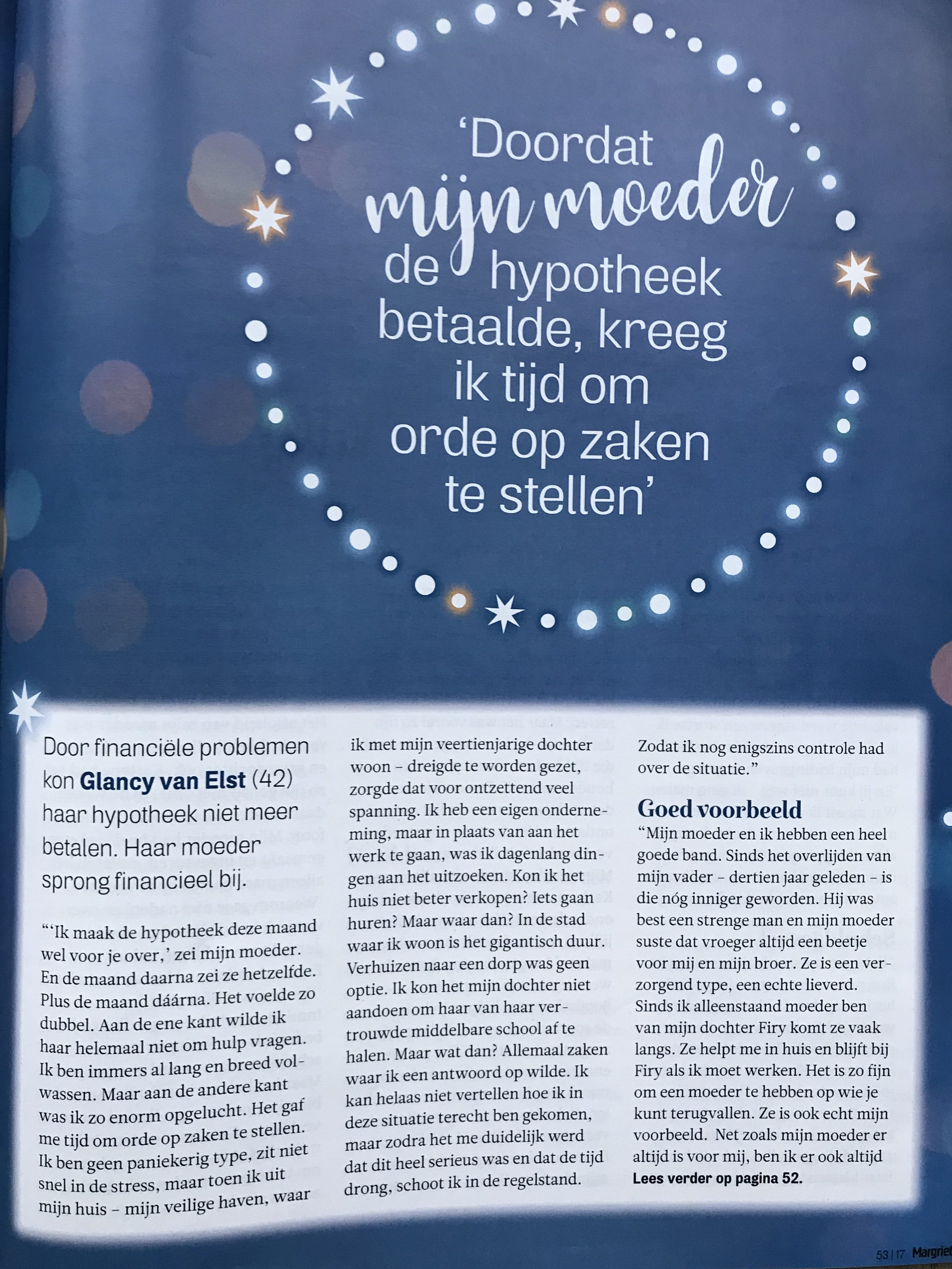 Glancy in de Margriet
